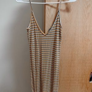 Forever 21 Ribbed Tank Top Striped Dresss